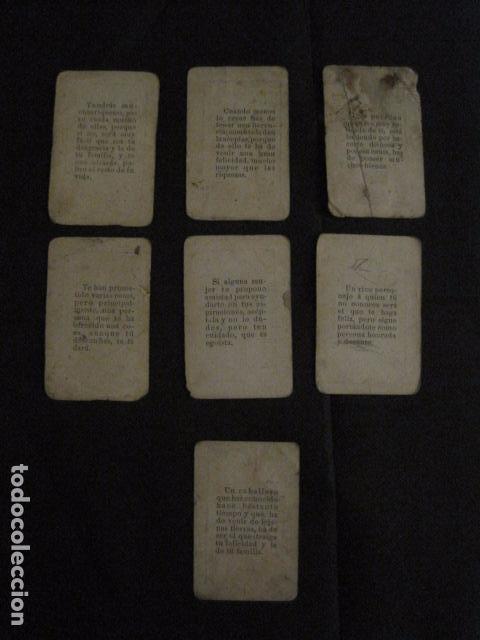 Barajas de cartas: BARAJA INCOMPLETA TOROS PREGUNTAS Y RESP -VALLADOLID 1909-CELESTINO GONZALEZ-VER FOTOS-(V-11.981) - Foto 4 - 97951063