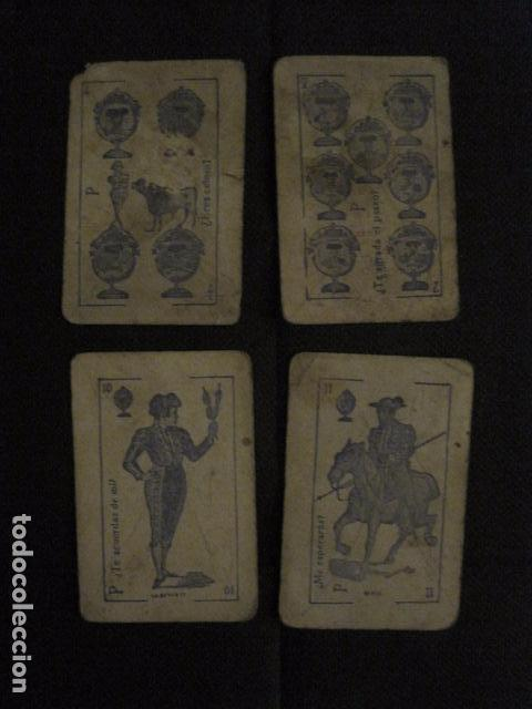Barajas de cartas: BARAJA INCOMPLETA TOROS PREGUNTAS Y RESP -VALLADOLID 1909-CELESTINO GONZALEZ-VER FOTOS-(V-11.981) - Foto 5 - 97951063