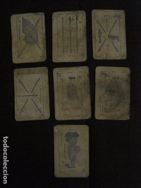 Barajas de cartas: BARAJA INCOMPLETA TOROS PREGUNTAS Y RESP -VALLADOLID 1909-CELESTINO GONZALEZ-VER FOTOS-(V-11.981) - Foto 7 - 97951063