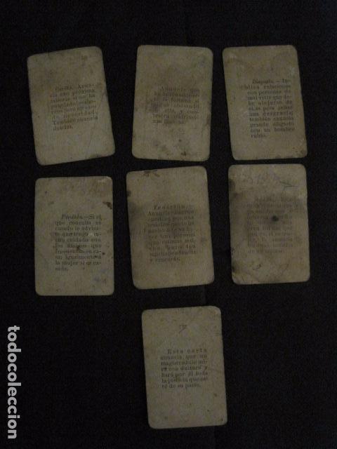 Barajas de cartas: BARAJA INCOMPLETA TOROS PREGUNTAS Y RESP -VALLADOLID 1909-CELESTINO GONZALEZ-VER FOTOS-(V-11.981) - Foto 8 - 97951063