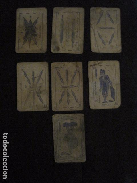 Barajas de cartas: BARAJA INCOMPLETA TOROS PREGUNTAS Y RESP -VALLADOLID 1909-CELESTINO GONZALEZ-VER FOTOS-(V-11.981) - Foto 9 - 97951063