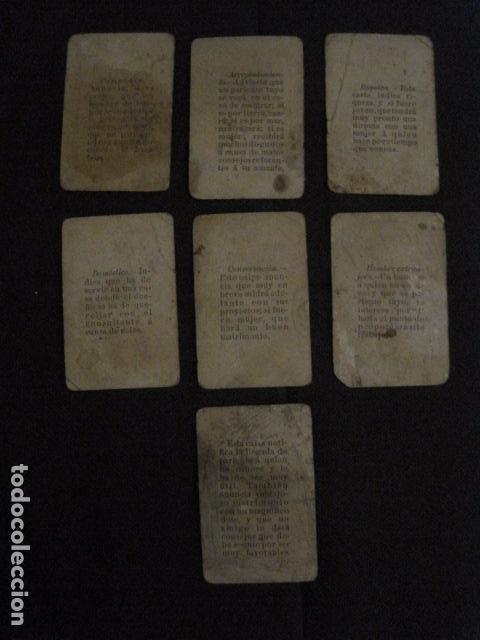 Barajas de cartas: BARAJA INCOMPLETA TOROS PREGUNTAS Y RESP -VALLADOLID 1909-CELESTINO GONZALEZ-VER FOTOS-(V-11.981) - Foto 10 - 97951063