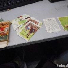 Barajas de cartas: BARAJA CARTAS COMAS FUTBOL TODO COMPLETO FALTA UNA SOLAPA PEQUEÑA. Lote 98051295