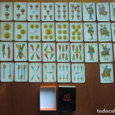 Barajas de cartas: BARAJA DE CARTAS ESPAÑOLA EN CAJA DE CERILLAS DE HERACLIO FOURNIER. Lote 98232335