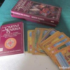 Barajas de cartas: LAS CARTAS DEL KARMA. GUIA PARA INTERPRETAR LA BARAJA DEL KARMA. Lote 98630543