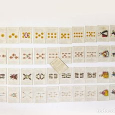 Barajas de cartas: BARAJA DE AMOR. ÉPOCA DE ISABEL II. COMPLETA CON INSTRUCCIONES. MÁLAGA. JOSÉ GARCIA TABOADELA. Lote 98730835
