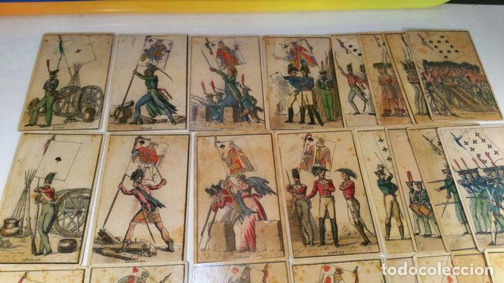 Barajas de cartas: BARAJA DE LAS BANDERAS - FRANCIA, SIGLO XIX 1814 - NUEVA - CERTIFICADO COLECCION FOURNIER - Foto 4 - 98877931