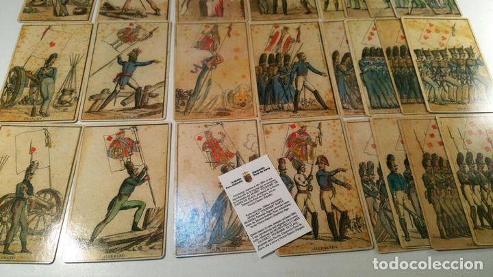 Barajas de cartas: BARAJA DE LAS BANDERAS - FRANCIA, SIGLO XIX 1814 - NUEVA - CERTIFICADO COLECCION FOURNIER - Foto 5 - 98877931