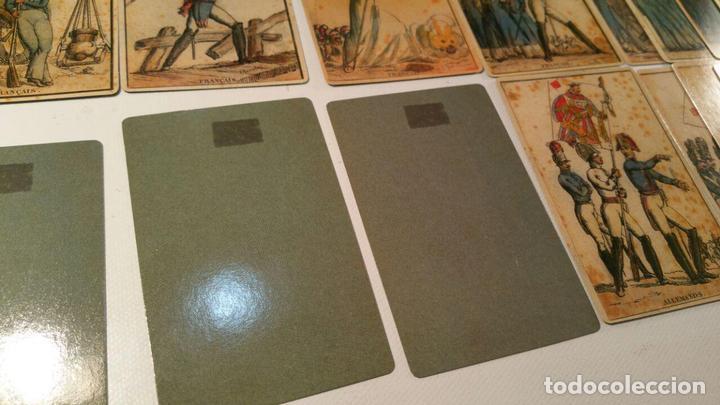 Barajas de cartas: BARAJA DE LAS BANDERAS - FRANCIA, SIGLO XIX 1814 - NUEVA - CERTIFICADO COLECCION FOURNIER - Foto 6 - 98877931
