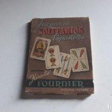 Baralhos de cartas: JUEGOS DE SOLITARIOS ESPAÑOLES.. FOURNIER..VITORIA...1960... Lote 99080703
