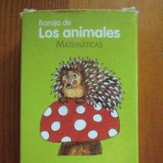 Barajas de cartas: BARAJA DE CARTAS INFANTIL LOS ANIMALES DE SANTILLANA. LA CASA DEL SABER. MATEMÁTICAS.. Lote 63984339