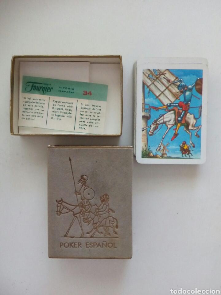 Barajas de cartas: BARAJA PÓKER ESPAÑOL FOURNIER EL QUIJOTE DE LA MANCHA 1964 - Foto 2 - 99290299