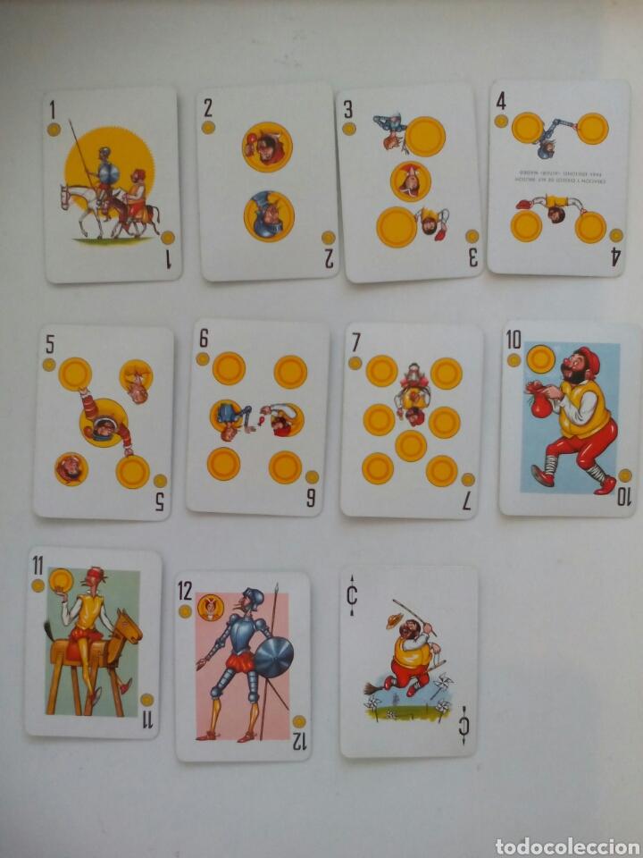 Barajas de cartas: BARAJA PÓKER ESPAÑOL FOURNIER EL QUIJOTE DE LA MANCHA 1964 - Foto 3 - 99290299