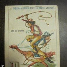 Barajas de cartas: BARAJA CHOCOLATES EL BARCO GRANDE - 2 DE BASTOS - CROMO SUELTO - VER FOTOS - (V-12.108). Lote 99647343