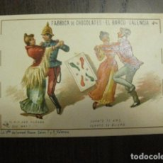 Barajas de cartas: BARAJA CHOCOLATES EL BARCO GRANDE - 4 DE BASTOS - CROMO SUELTO - VER FOTOS - (V-12.110). Lote 99647391
