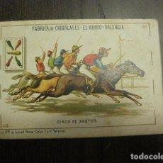 Barajas de cartas: BARAJA CHOCOLATES EL BARCO GRANDE - 5 DE BASTOS - CROMO SUELTO - VER FOTOS - (V-12.111). Lote 99647415