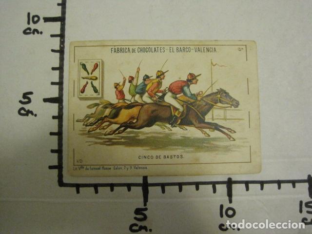 Barajas de cartas: BARAJA CHOCOLATES EL BARCO GRANDE - 5 DE BASTOS - CROMO SUELTO - VER FOTOS - (V-12.111) - Foto 3 - 99647415