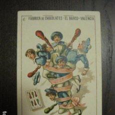 Barajas de cartas: BARAJA CHOCOLATES EL BARCO GRANDE - 6 DE BASTOS - CROMO SUELTO - VER FOTOS - (V-12.112). Lote 99647447