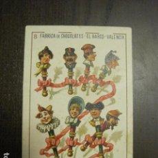 Barajas de cartas: BARAJA CHOCOLATES EL BARCO GRANDE - 8 DE BASTOS - CROMO SUELTO - VER FOTOS - (V-12.114). Lote 99647491