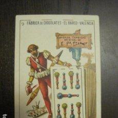 Barajas de cartas: BARAJA CHOCOLATES EL BARCO GRANDE - 9 DE BASTOS - CROMO SUELTO - VER FOTOS - (V-12.115). Lote 99647519
