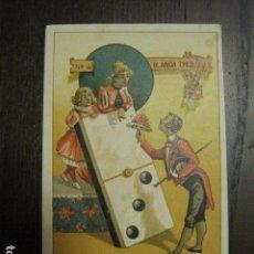 Barajas de cartas: DOMINO CHOCOLATES EL BARCO - BLANCA TRES - CROMO SUELTO - VER FOTOS - (V-12.117). Lote 99647563