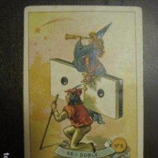 Barajas de cartas: DOMINO CHOCOLATES EL BARCO - DOBLE UNO - CROMO SUELTO - VER FOTOS - (V-12.118). Lote 99647603