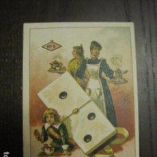 Barajas de cartas: DOMINO CHOCOLATES EL BARCO - UNO DOS - CROMO SUELTO - VER FOTOS - (V-12.119). Lote 99647627