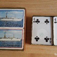 Barajas de cartas: BARAJA CARTAS FOURNIER DOBLE ESTUCHE - TRASMEDITERRANEA (BARCOS) - CIUDAD DE COMPOSTELA - VER FOTOS. Lote 99881187