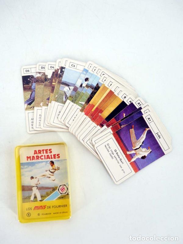 MINIS 8. ARTES MARCIALES BARAJA 25 NAIPES EN ESTUCHE HERACLIO FOURNIER, S.A., 1978 (Juguetes y Juegos - Cartas y Naipes - Barajas Infantiles)