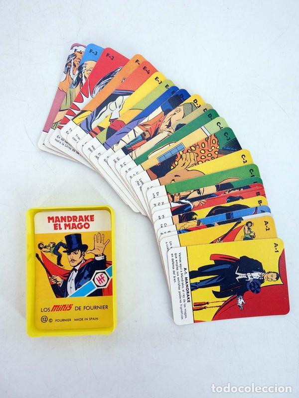 MINIS 12. MANDRAKE EL MAGO. BARAJA 25 NAIPES EN ESTUCHE HERACLIO FOURNIER, S.A., 1978 (Juguetes y Juegos - Cartas y Naipes - Barajas Infantiles)