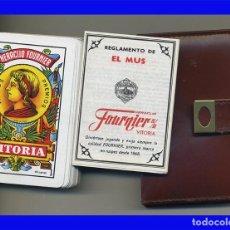 Barajas de cartas: BARAJA DE CARTAS FOURNIER CON CARTERA E INSTRUCCIONES MUS SIN USO. Lote 99900479