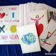 Barajas de cartas: EL TAROT DE AGATHA RUIZ DE LA PRADA Y OCTAVIO ACEVES. HUERGA & FIERRO. 1996 LIBRO + BARAJA COMPLETA. Lote 99937911