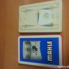 Barajas de cartas: BARAJA ESPAÑOLA NAIPES FIBRA MARFIL PUBLICIDAD DE MAHLE 50 CARTAS PRECINTADAS DE HERACLIO FOURNIER.. Lote 99972747