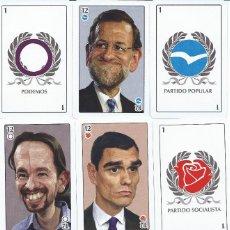 Barajas de cartas: BARAJA ESPAÑOLA POLITICA LINEAS ROJAS-FOURNIER-AÑO 2016. Lote 215237246