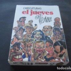 Barajas de cartas: BARAJA ESPAÑOLA FOURNIER. EL JUEVES CARICATURAS POLITICA TELEVISION CINE Y MUSICA. Lote 100300247
