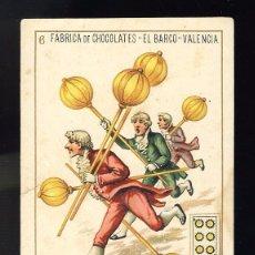 Barajas de cartas: BARAJA DE CHOCOLATES EL BARCO, GRANDE: 6 DE OROS. Lote 100359347