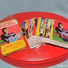 Baralhos de cartas: BARAJA DE CARTAS MINI , EL ENMASCARADO DE HERACLIO FOURNIER 1978, COMPLETA CON INSTRUCCIONES Y CAJA.. Lote 100367139
