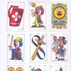 Barajas de cartas: BARAJA ESPAÑOLA DE LOS PAYASOS. Lote 100367783