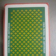 Barajas de cartas: JUEGO DE 40 CARTAS NAIPE ESPAÑOL CAJA RURAL DE ASTURIAS NUEVO. Lote 100378135