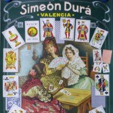 Barajas de cartas: CARTEL FABRICA BARAJAS-NAIPES SIMEON DURA - VALENCIA - ILUSTRADOR CARLOS VAZQUEZ. Lote 90612870