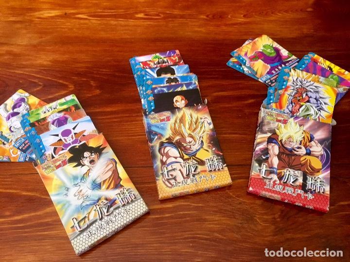 Barajas de cartas: COLECCION 58 CARTAS BOLA DE DRAGON - GOKU - PICOLO - FREEZER - VEGETA SON GOHANDA - SUPER SAIYAN - Foto 8 - 101559987