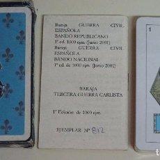 Barajas de cartas: BARAJA DE CARTAS ESPAÑOLA. COMAS. TERCERA GUERRA CARLISTA. LIMITADA NUMERADA. PRECINTADA. 100 GR. Lote 101579059