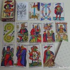 Barajas de cartas: BARAJA DE CARTAS DE TAROT ESPAÑOL. SPANISH. FOURNIER. CON INSTRUCCIONES. AÑO 1992. 200 GR. Lote 128114632