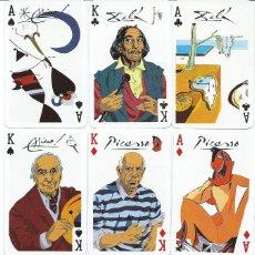 Barajas de cartas: BARAJA ASES DE LA PINTURA(PICASSO-MIRO-DALI-TAPIES)-AÑO 2000. Lote 110137618