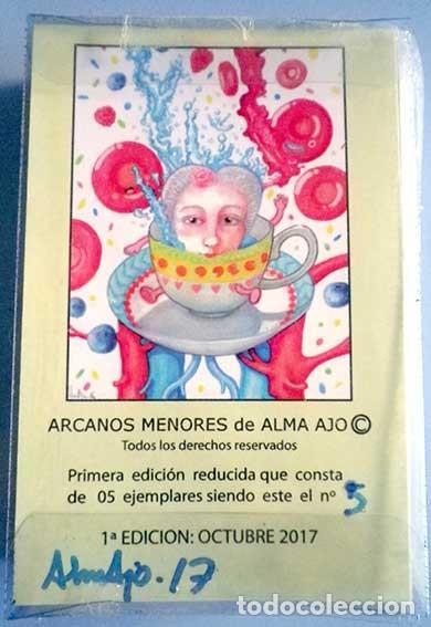 TAROT 56 ARCANOS MENORES DE ALMA AJO 1ª EDICION BARAJA Nº 5, AÑO 2017 (Juguetes y Juegos - Cartas y Naipes - Barajas Tarot)