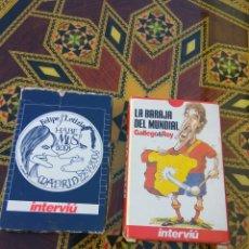 Barajas de cartas: BARAJA CARTAS INTERVIU LOTE DE DOS. Lote 101740227