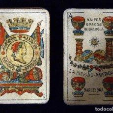 Barajas de cartas: ANTIGUA BARAJA JUAN ROURA. LA HISPANO-AMERICANA. BARCELONA. 40 NAIPES. REPÚBLICA. CIRCA 1932. USADA. Lote 101935967