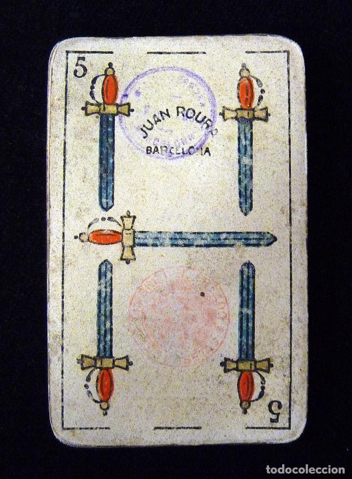Barajas de cartas: ANTIGUA BARAJA JUAN ROURA. LA HISPANO-AMERICANA. BARCELONA. 40 NAIPES. REPÚBLICA. CIRCA 1932. USADA - Foto 2 - 101935967