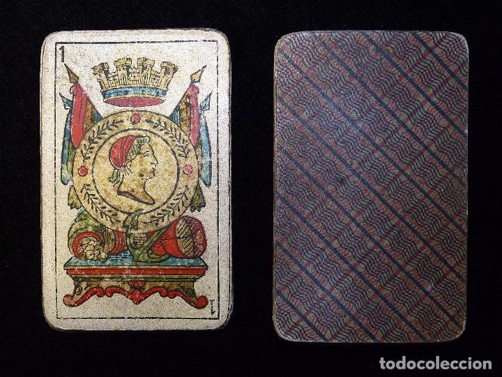 Barajas de cartas: ANTIGUA BARAJA JUAN ROURA. LA HISPANO-AMERICANA. BARCELONA. 40 NAIPES. REPÚBLICA. CIRCA 1932. USADA - Foto 3 - 101935967