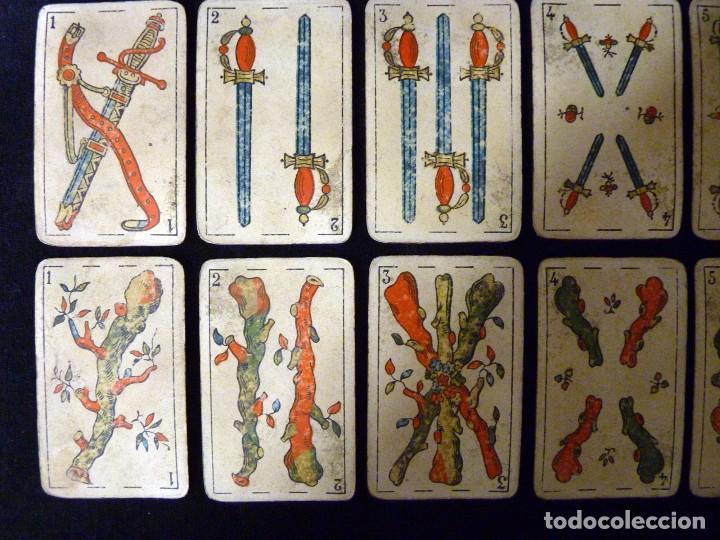 Barajas de cartas: ANTIGUA BARAJA JUAN ROURA. LA HISPANO-AMERICANA. BARCELONA. 40 NAIPES. REPÚBLICA. CIRCA 1932. USADA - Foto 6 - 101935967
